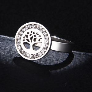 Jewelry - PREVIEW Stainless Steel CZ Life Tree Circle Ring